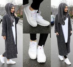 "10.2k Likes, 90 Comments - Sümeyye Coktan  Onun Yari  (@hijab_is_my_diamond_official) on Instagram: ""Cardigan - Bershka  Shirt - Zara  Shoes / Schuhe / Ayakkabilar - Reebok Classic"""