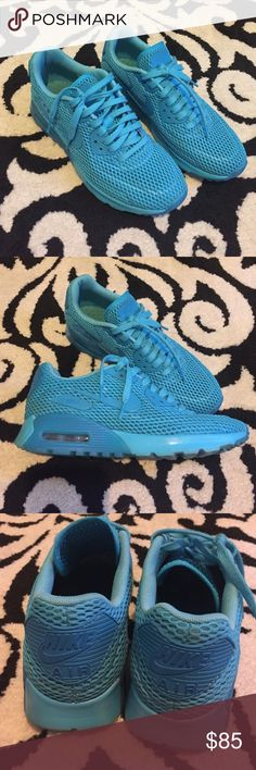 Nike air max Great condition! Very pretty blue on blue color. Air pockets are still perfect! Nike Shoes Sneakers