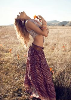 Bohemian and fun. I have no information on this outfit at all but I love it!