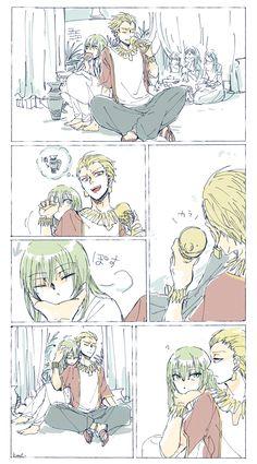Gilgamesh And Enkidu, Gilgamesh Fate, Fate Stay Night Anime, Fate Anime Series, Samurai Art, Fate Zero, Cute Anime Boy, Manga Anime, Geek Stuff