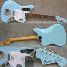 vintage Fender Jaguar, sonic blue