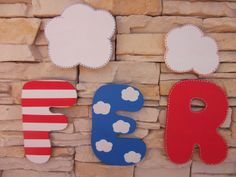 Decoración Infantil Pekerines: LETRAS DE MADERA  CON DECORACIÓN MARINERA    pekerines.blogspot.com.es