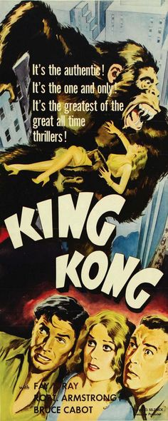 "Movie poster, ""King Kong"" (1933) ***"