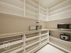 Benwee Road, Floreat, WA 6014 good layout for the scullerygood layout for the scullery Kitchen Butlers Pantry, Pantry Room, Kitchen Pantry Design, Kitchen Organization Pantry, Butler Pantry, Home Decor Kitchen, Home Kitchens, Pantry Ideas, Kitchen Layout