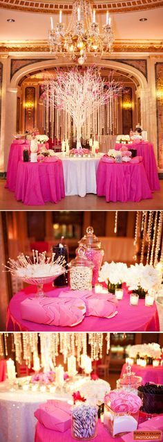 a different spin on the candy buffet But *shudders* change the gosh dang color