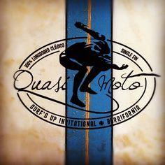 Diseño del logotipo para Quasimoto Surf's Up Invitational Burrifornia. 100% Classic Surf Single Fin #longboard, #surf, #Burriana,#IgnotaDesign