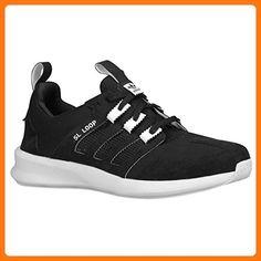 huge selection of 04434 305be Adidas Originals Loop Runner Running Sneaker Shoe - Black White - Kids - 6