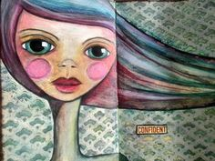 Tagalong tuesday week 33 Art journal Face - YouTube