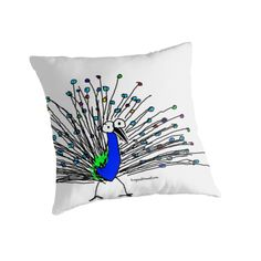 Brand new pillows to cuddle up to from the Frog Shop. This is Barry the peacock, say Hi! Peacocks, Say Hi, Cuddle, Throw Pillows, Store, Shopping, Design, Toss Pillows, Peafowl