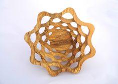 Drevená miska vyrobená na lupienkovej pílke tzv. scrollsaw bowl zo špaltovaného dre (spalted wood) alnus glutinosa Jelsa, Scroll Saw, Elsa