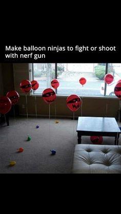 Ninja balloon Nerf gun game