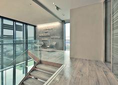 Uffici Sag Tubi (RE) - K-uno Rovere temptation pavimento, scale, parete #skema #madeinitaly #italiandesign