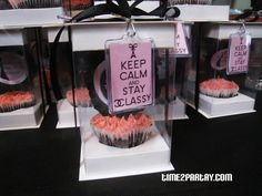 Paris Themed Birthday Party Favors #Pink #black #white #birthday #parisian #cake #decoration #sweet #favor #cupcake #keep #calm