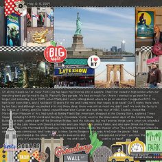 exploring NYC by zippyoh at the Lilypad #travelscrapbooking