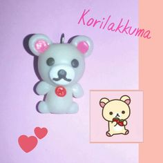 Korilakkuma before baking - Polymer Clay