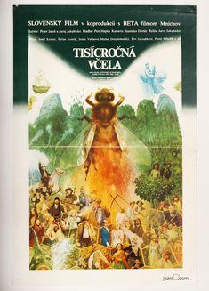 Vintage movie poster for Juraj Jakubisko film The Millennial Bee, #PosterDesign by Albín Brunovský, 1983. #movieposter #albinbrunovsky #jurajjakubisko #surrealposter #postershop