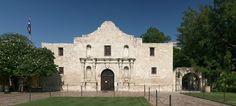 Facade of The Álamo, San Antonio (Texas).