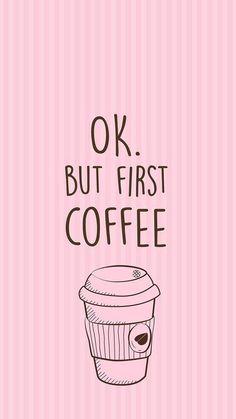 Imagem de coffee, pink, and wallpaper