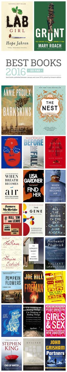 Best books published in the first half of 2016, by category