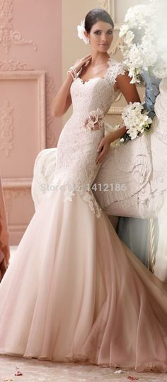 Find More Wedding Dresses Information about SNMD0034 Beaded Open Back Vintage  Lace Mermaid Wedding Dresses Robe 0dc36add1ce8