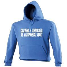 123t USA Cleverly Disguised As A Responsible Adult Funny Hoodie