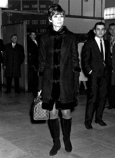 Audrey Hepburn at Heathrow Airport November 1966
