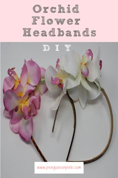 These DIY Orchid Flower Headbands are super adorable and fairly easy to make. They are a fun way to sassy up a plain headband. Diy Headband, Flower Headbands, Glue Crafts, Diy Crafts, Silk Orchids, Grow Together, Penguins, Party Favors, Diy Projects