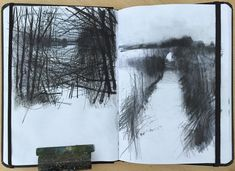 // sketchbook // David A Parfitt RI ( Illustration Sketches, Art Sketches, Art Drawings, Landscape Drawings, Abstract Landscape, Sketchbook Inspiration, Painting Inspiration, Moleskine, Artist Sketchbook
