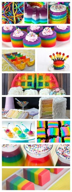 The Best Rainbow Recipes For Pride Month Rainbow Parties, Rainbow Birthday Party, Unicorn Birthday, Birthday Parties, Rainbow Treats, Rainbow Food, Rainbow Desserts, Rainbow Things, Rainbow Stuff