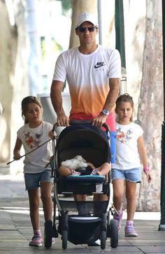 Roger and the twins - all 4 of them!