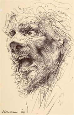 The Andrew, Portrait of a Saint exhibition, City Art Centre, Edinburgh. A collection of drawings and paintings by the Scottish artist Peter Howson. Jack Kemp, Peter Howson, Advanced Higher Art, High Art, Portrait Inspiration, Printmaking, Saints, Sketches, Dip Pen