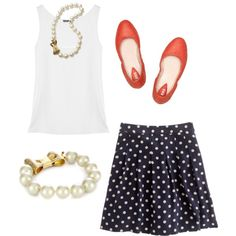 Classic look #fashion #style #preppy #love #pearls