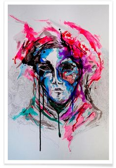Masq - Marc Allante - Affiche premium