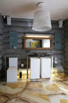 Wooden Cottage by Elena Sherbakova