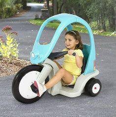 The Super Coupe Pedal Trike is the perfect ride-on for kids ages 3-7. Easy to steer and designed with safety in mind.