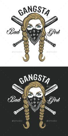 Gangsta Girl in Bandanna Gangsta Girl Bandanna Tattoos Hype Wallpaper, Bad Girl Wallpaper, Gangsta Tattoos, Girl Tattoos, Trippy, Gangster Girl, Illustrator Cs6, Anna, Chicano Art