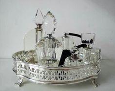 Decor lavabo, bandeja de prata