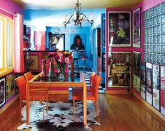 A Fashionable Life: Linda Ramone - A view from the dining room into the kitchen.