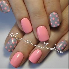Pretty Polka Dots Nail Designs - For Creative Juice Pink and Gray Dot Nail Art. (via Pretty Polka Dots Nail Designs - For Creative Juice Pink and Gray Dot Nail Art. Dot Nail Art, Polka Dot Nails, Polka Dots, Dot Nail Designs, Simple Nail Designs, Nails Design, Easy Designs, Pretty Designs, Nails Yellow
