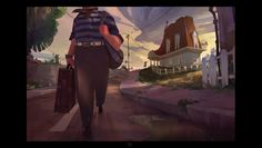 ArtStation - Old Man's Journey - mobile game story scenes, Lip Comarella