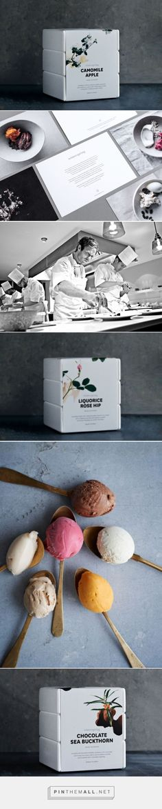 Winterspring packaging via Kontrapunkt curated by Packaging Diva PD. Seductive beauty and flavors in this unique Nordic Ice desert.