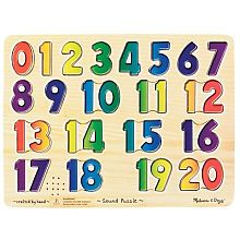 Melissa & Doug Learn Your Numbers Wooden Sound Puzzle - $13.99
