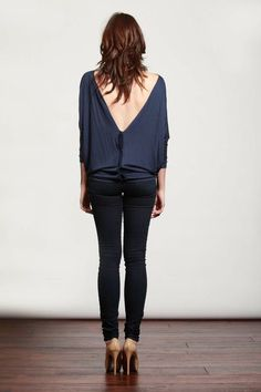 Love navy and love the deep v
