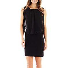 Scarlett Beaded Trim Blouson Dress | Jcpenny.com