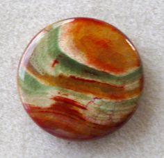 Dragon Veins Agate Coin Pendant Bead by CatsBeadKitsandMore, $7.25