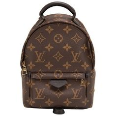 Preowned Louis Vuitton Palm Springs Backpack Mini (10.450 RON) ❤ liked on Polyvore featuring bags, backpacks, multiple, mini rucksack, leather knapsack, leather backpack, leather zip backpack and miniature backpack