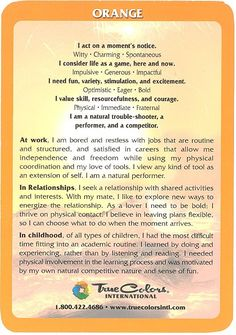 True Colors Personality Assessment  Addiction and Recovery