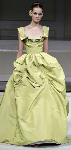 Lime Sherbet, Long Dresses, Shades Of Green, Green Colors, Runway Fashion, Sassy, Couture, Oscar De La Renta, Fashion Show
