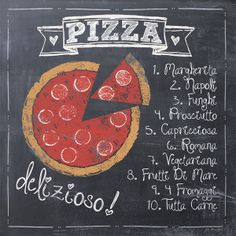 Pizza by Jo Moulton Signs Sayings Print Poster