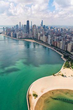 North Avenue Beach Chicago Aerial|Adam Romanowicz